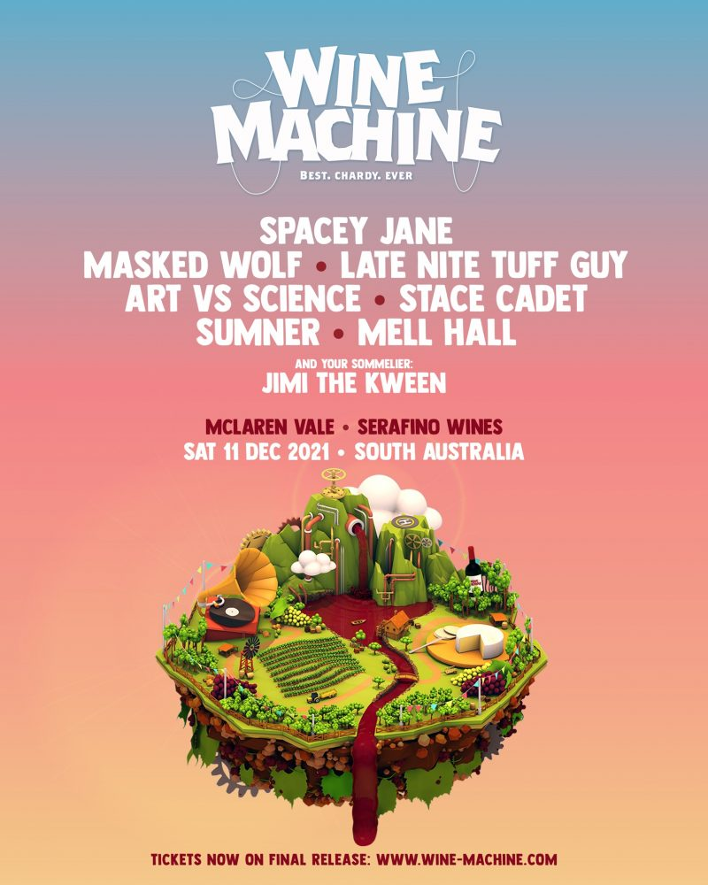 WINE MACHINE, THE SUMMER WINERY EVENT OF THE YEAR, RETURNS TO SOUTH AUSTRALIA ON DECEMBER 11